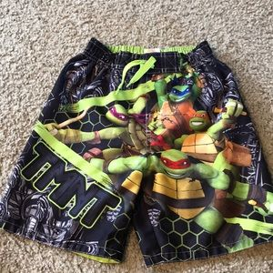 Boys TMNT swim trunks